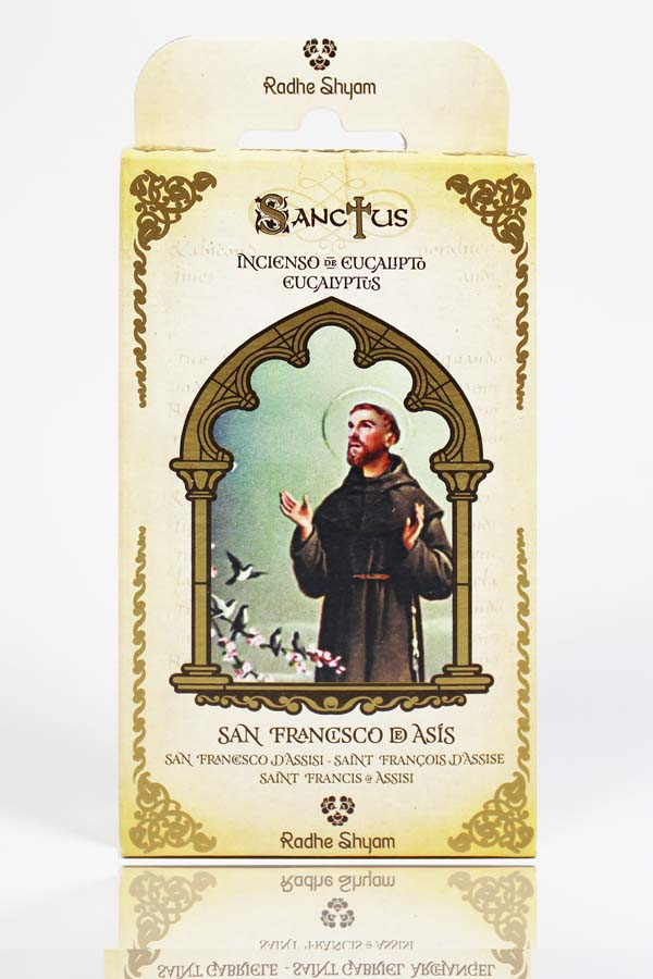 Sanctus Incense Cones: Saint Francis of Assisi - Eucalyptus