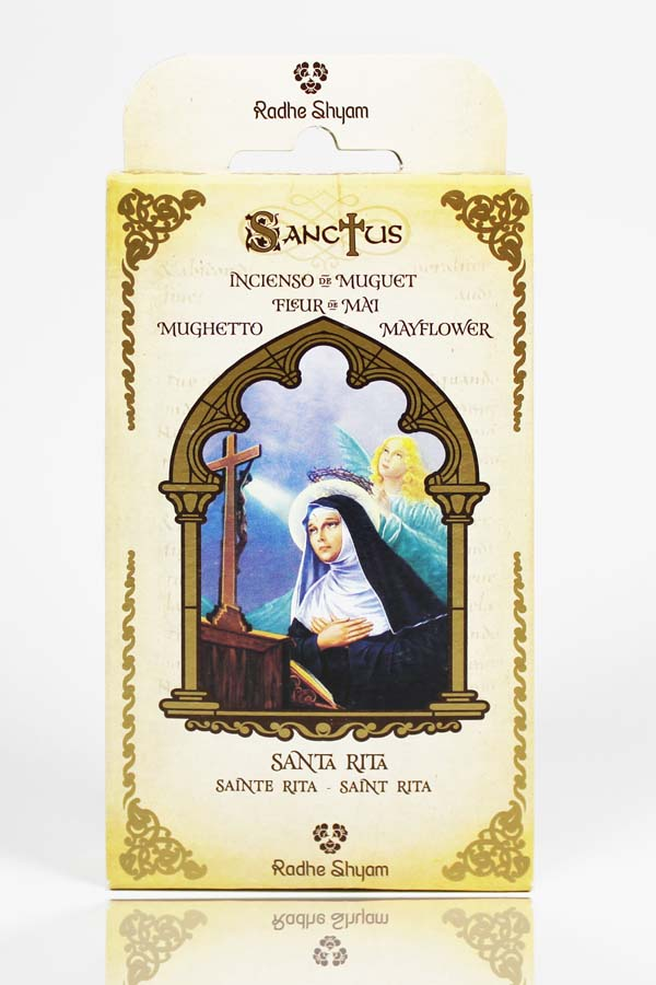 Sanctus Incense Cones: Saint Rita of Cascia - Mayflower