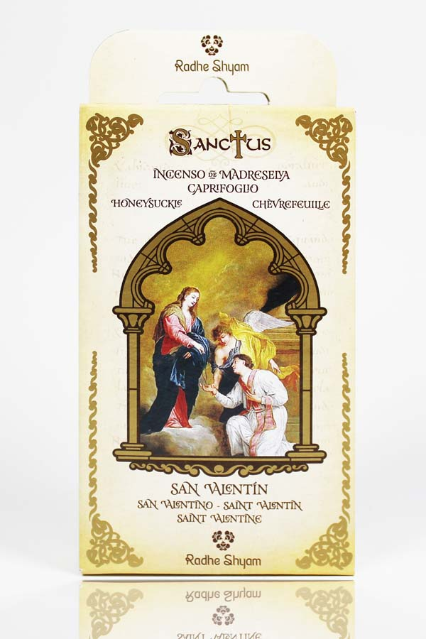 Sanctus Incense Cones: Saint Valentine - Honeysuckle