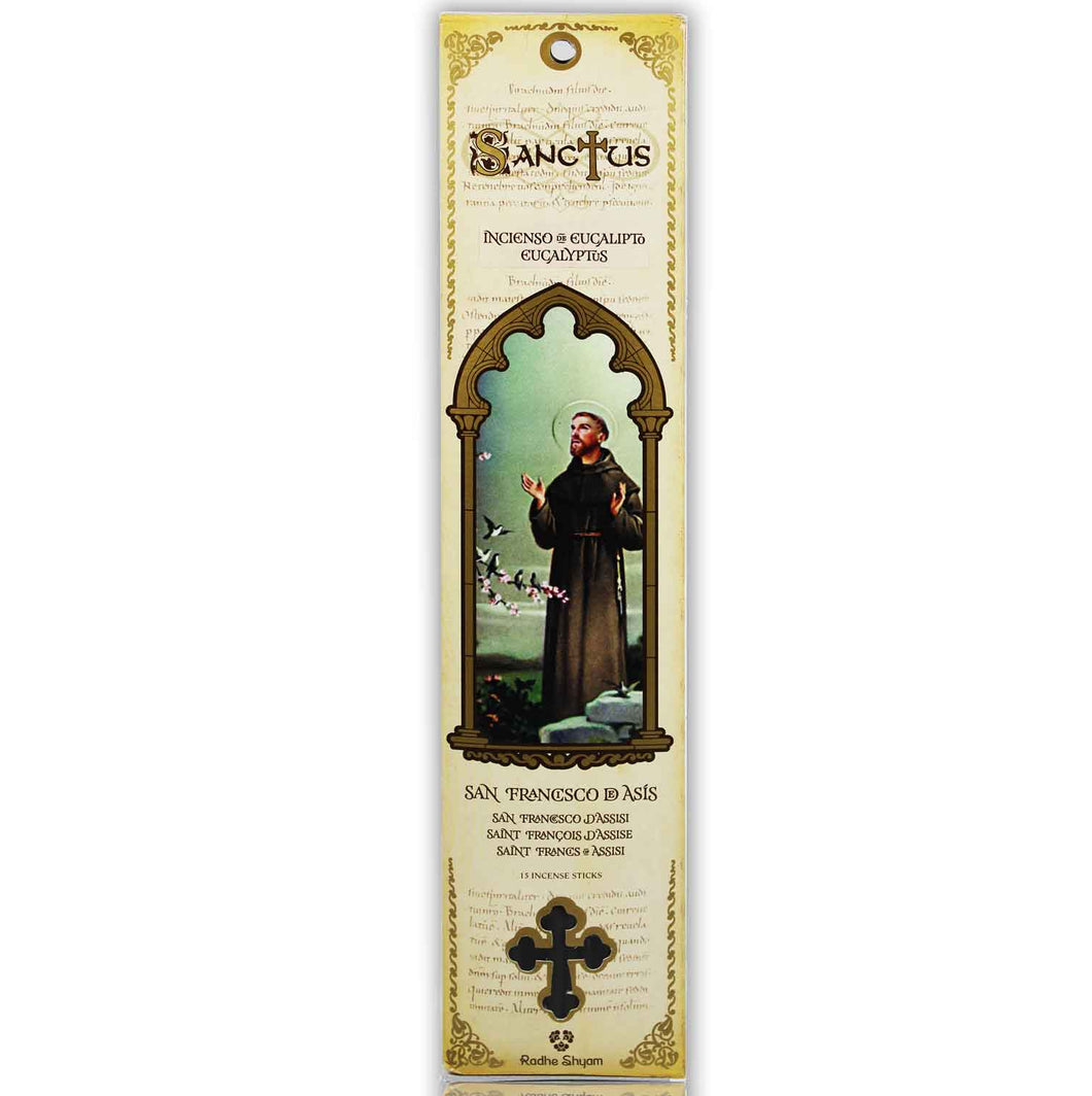Sanctus Incense Sticks: Saint Francis of Assisi - Eucalyptus
