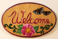 Welcome Sign - Hand-painted by the Sisters