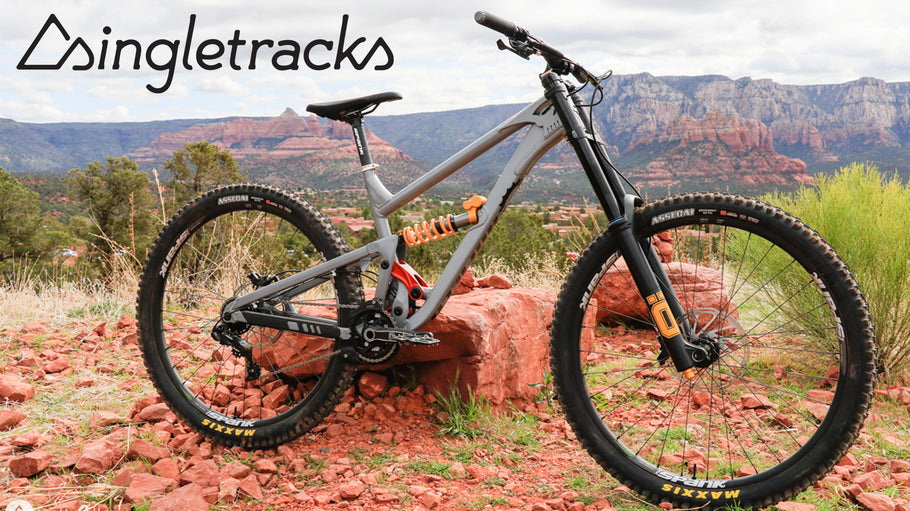 Singletracks Gets First Look at Canfield ONE.2 Downhill Bike In Sedona