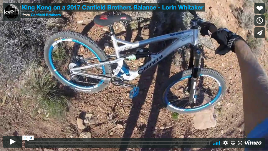 VIDEO | Riding King Kong on a trail bike - Canfield Brothers Balance