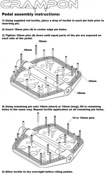 Pedal assembly instruction