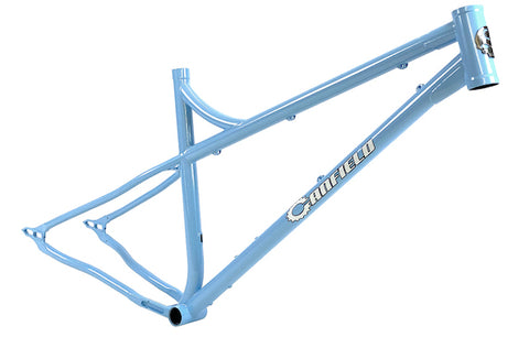 Canfield Nimble 9 - Frost Powder Blue - Steel hardtail frame