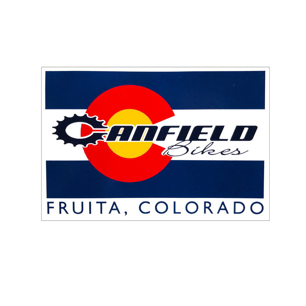 Canfield Bikes Colorado Flag Sticker