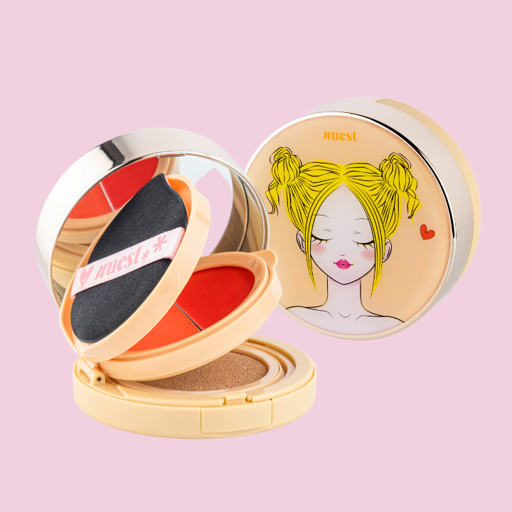 Chic2Chhek 3 Tiered Compact - Lips & Cheek