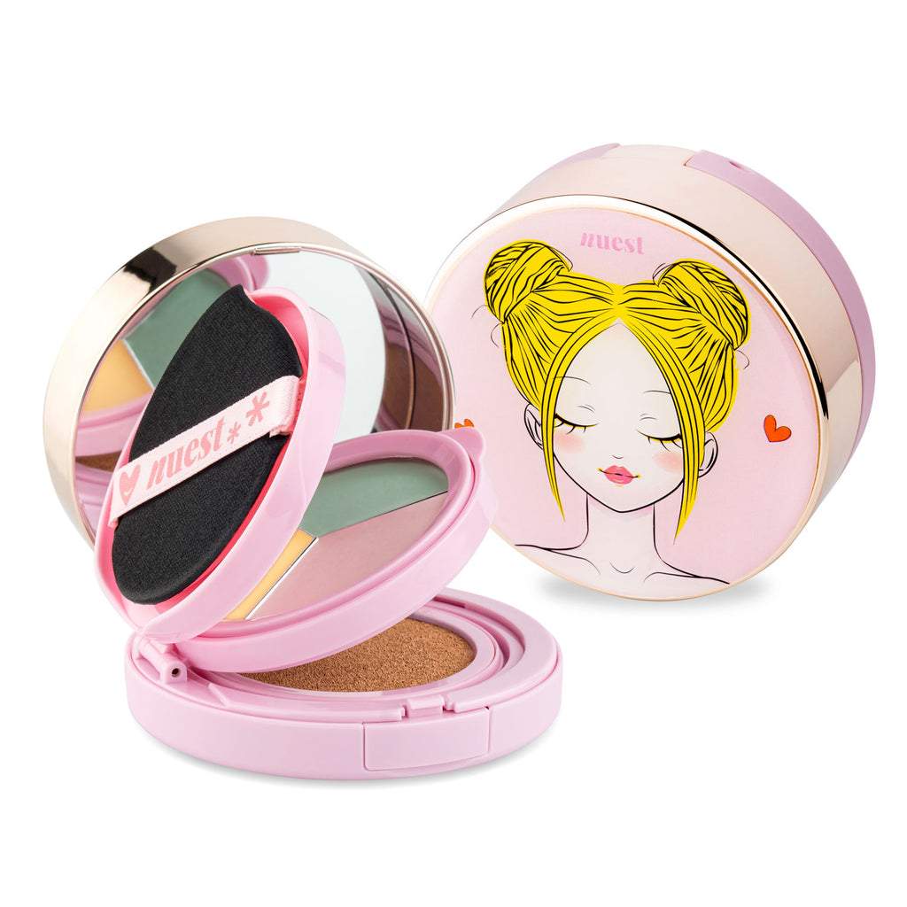 Chic2Cheek 3 Tiered Compact – Perfecting Trio Color Corrector - Nude Fair