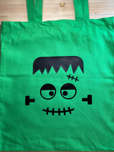 Monster Green Canvas Tote - Sunny Ohana Creations