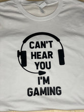 Load image into Gallery viewer, Can't Hear You I'm Gaming Short Sleeve T-Shirt - Sunny Ohana Creations