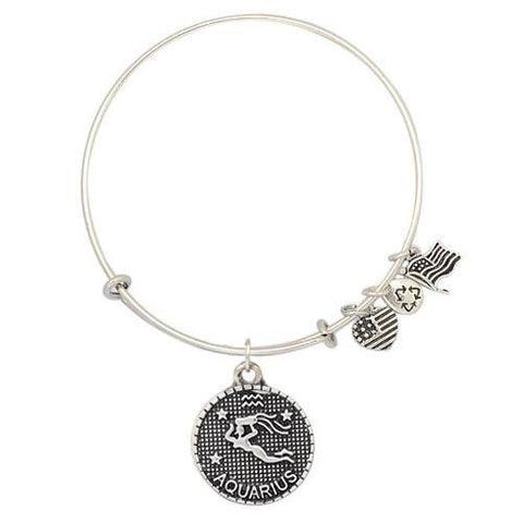 Aquarius Charm Medallion & Adjustable DIY Charm Bracelet