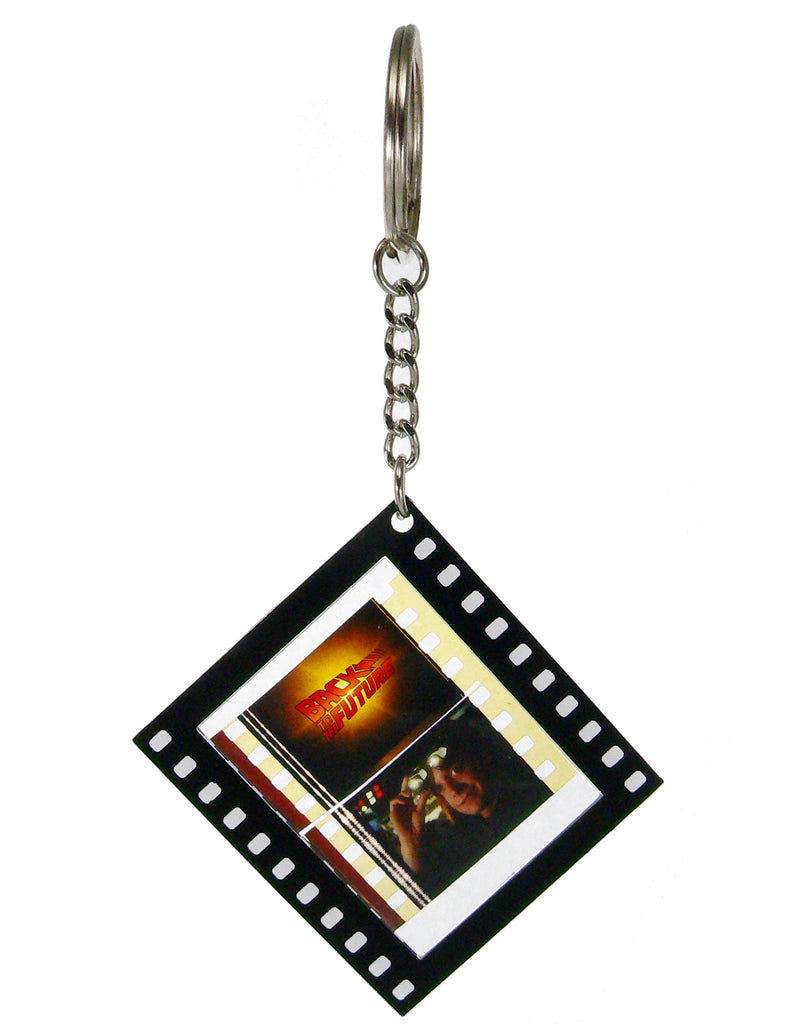 Back to the Future Collectible Film Cell Key Chain - Benefits Michael J. Fox Foundation