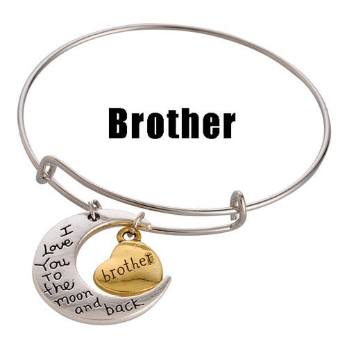 For a Great Brother! Adjustable DIY Charm Bracelet - Silver & Gold Tone