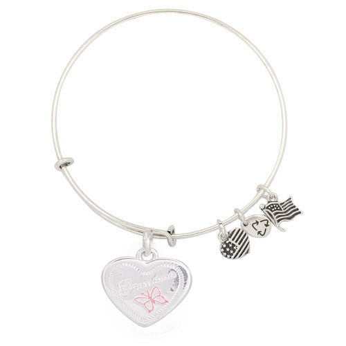 Butterfly Heart Adjustable DIY Charm Bracelet