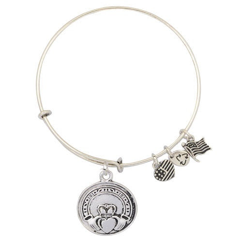 Claddagh Adjustable DIY Charm Bracelet