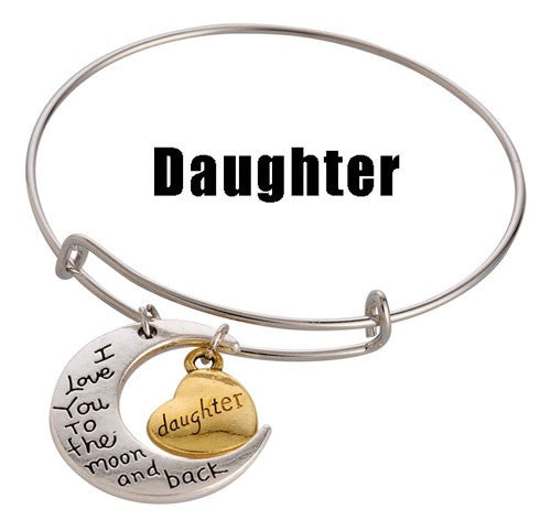 For a Great Daughter! Adjustable DIY Charm Bracelet - Silver & Gold Tone