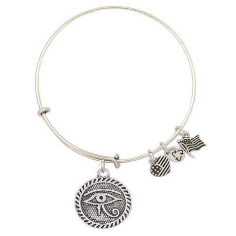 Eye of Horus Adjustable DIY Charm Bracelet