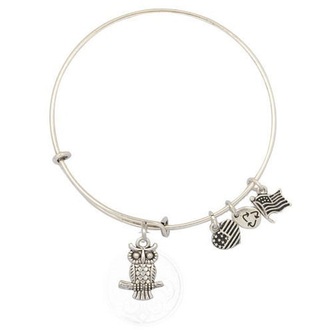 Wise Owl Adjustable DIY Charm Bracelet