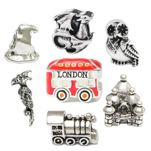 Harry Potter Inspired Seven Charm Set - Pandora Style/Compatible - Limited Edition Charm Set