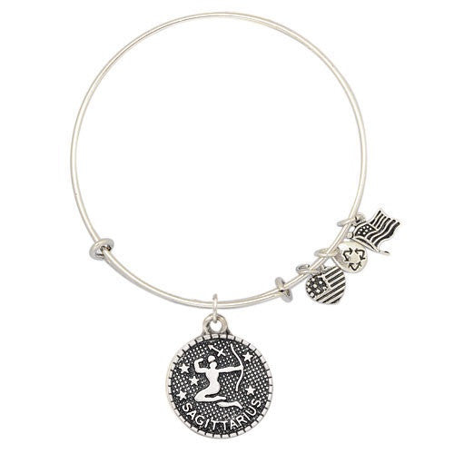 Sagittarius Charm Medallion & Adjustable DIY Charm Bracelet