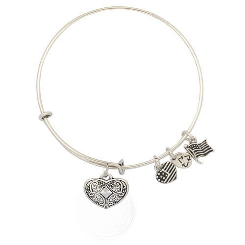 Scrolled Heart Adjustable DIY Charm Bracelet