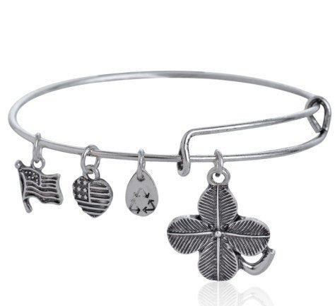 Shamrock (Lucky Clover) Adjustable DIY Charm Bracelet