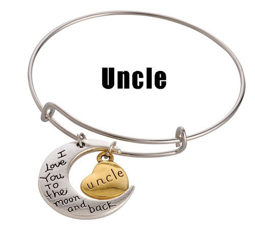 For a Great Uncle! Adjustable DIY Charm Bracelet - Silver & Gold Tone