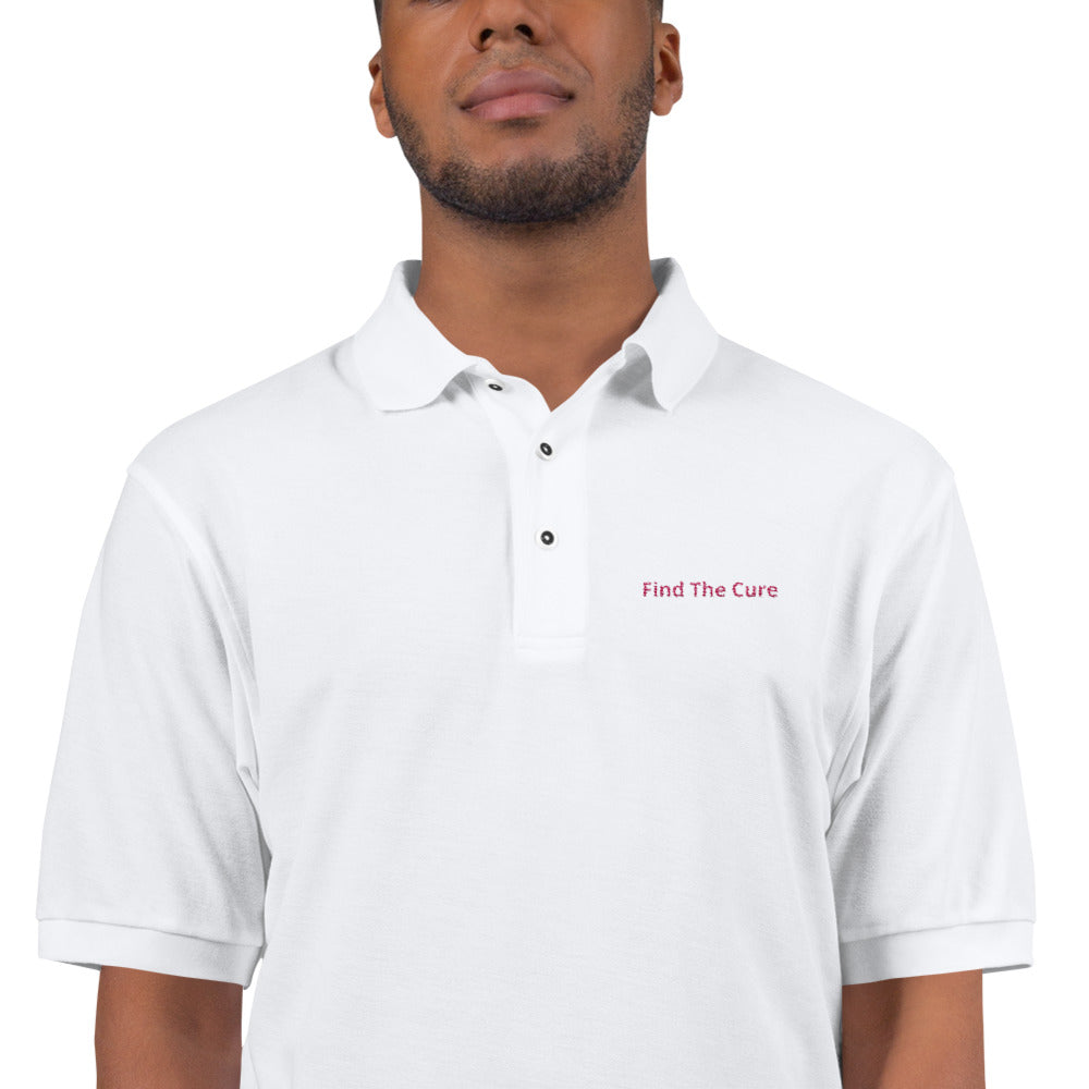 Find The Cure for Breast Cancer Men's Embroidered Polo Shirt
