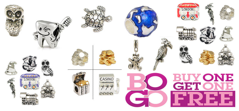 Pandora Inspired Charms - Buy One - Get One Sale!