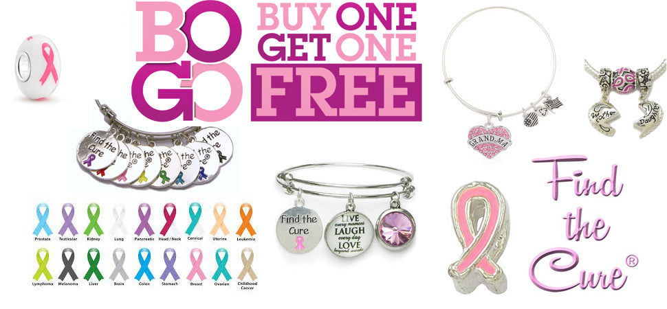 Ribbon Support Charms & Bracelets