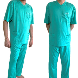 **FDA Approved** Reusable Nano Technology Environmentally Friendly Medical Scrubs Full Suit – Half sleeves - 1 Qty: 10 Full Suits