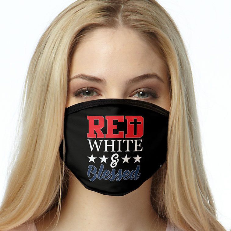 Red White & Blessed FACE MASK Cover Your Face Masks