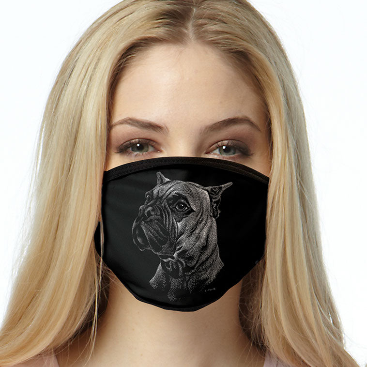 Boxer FACE MASK Dog Breed Face Covering