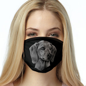Dachshund FACE MASK Dog Breed Face Covering