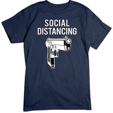 Load image into Gallery viewer, Social Distancing Gun T-Shirt