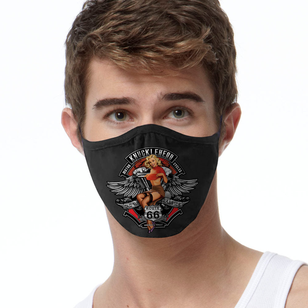 Knucklehead Pinup FACE MASK Cover Your Face Masks