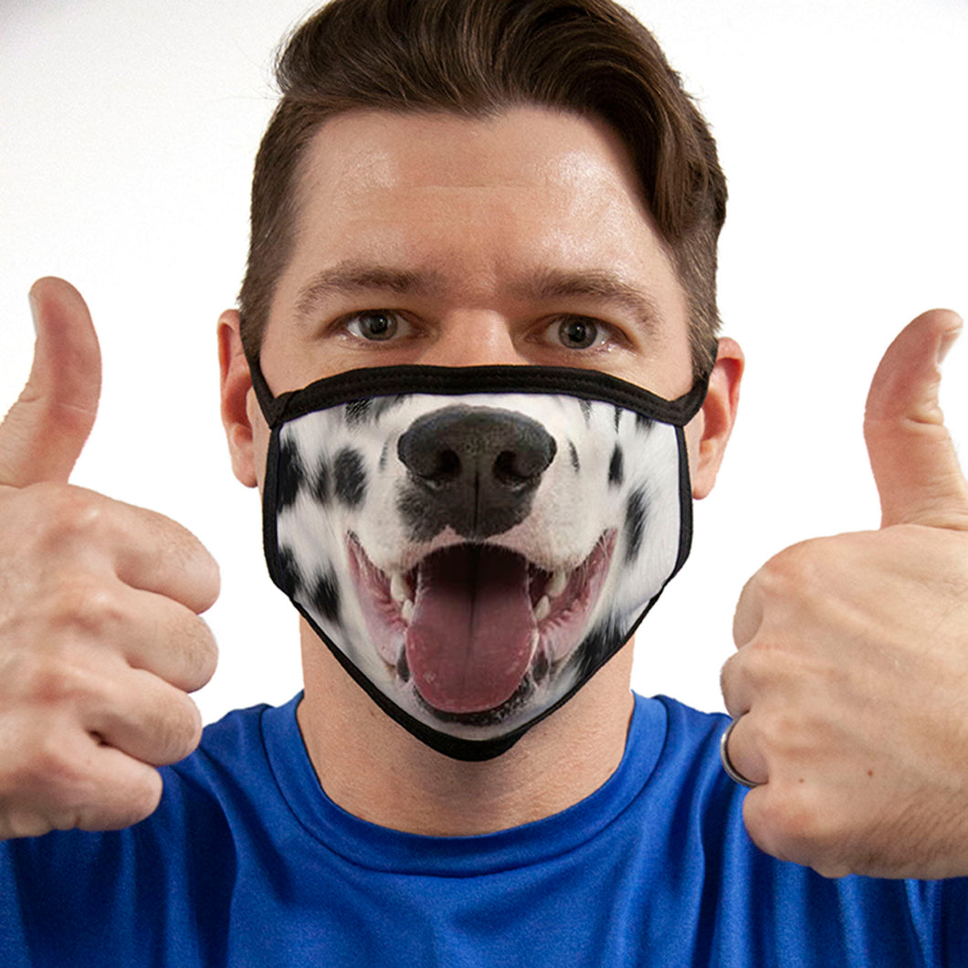 Dalmatian FACE MASK Dog Breed Face Covering