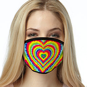 Heart Tie Dye FACE MASK Cover Your Face Masks