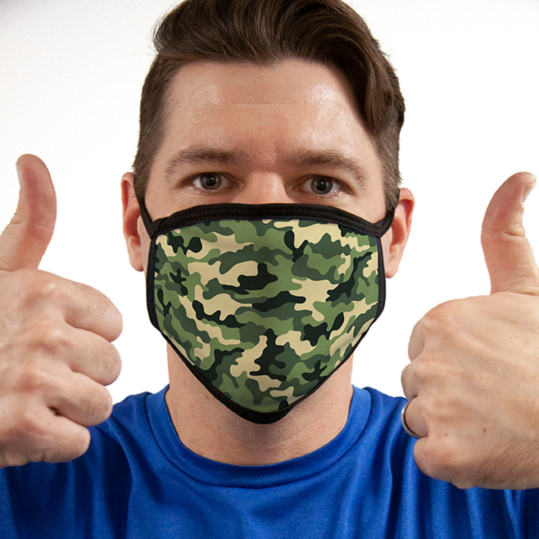 Camo FACE MASK Green Camouflage Face Covering