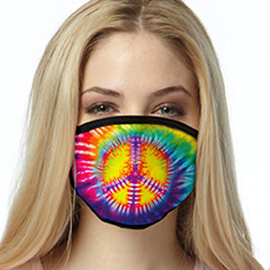 Peace Tie Dye Swirl FACE MASK Cover Your Face Masks
