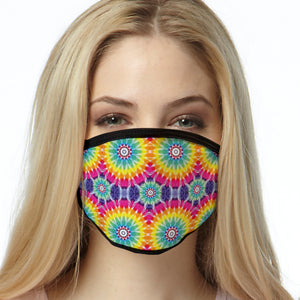 Tie Dye FACE MASK Tie Dye Circles  Cover Your Face Masks