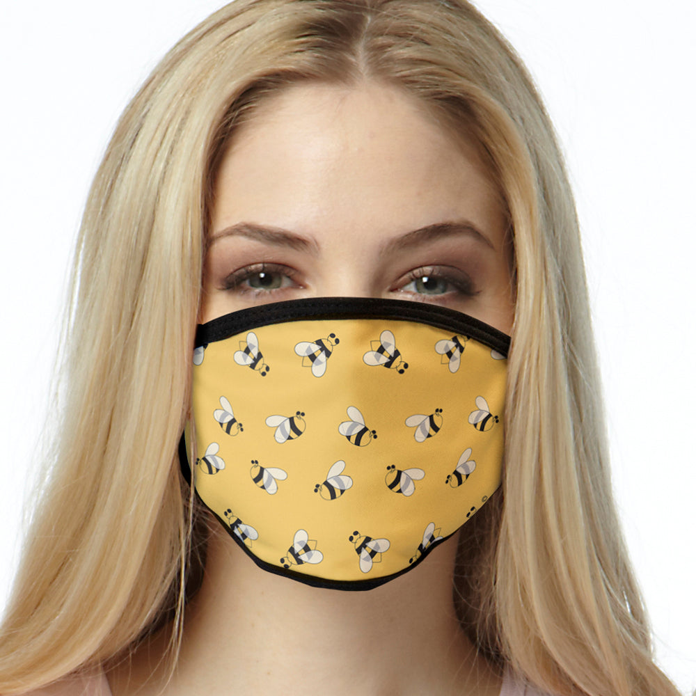 Bumble Bee FACE MASK Bumbles Designer Cover Your Face Masks
