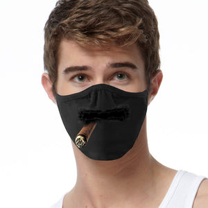 Mustache Cigar FACE MASK Cover Your Face Masks