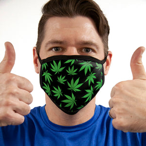 Pot Leaf Pattern FACE MASK Cover Your Face Masks