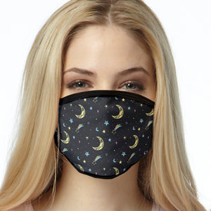 Moon & Stars FACE MASK Cover Your Face Masks