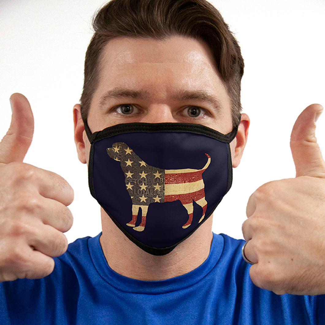 Dog Flag FACE MASK American Pride Cover Your Face Masks