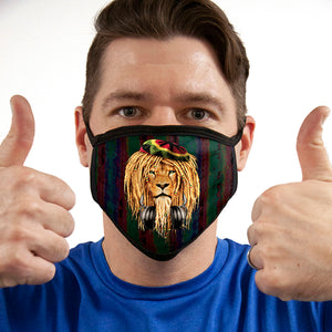 Rasta Lion Headphones FACE MASK Cover Your Face Masks