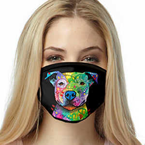 Color Pitbull FACE MASK Cover Your Face Masks
