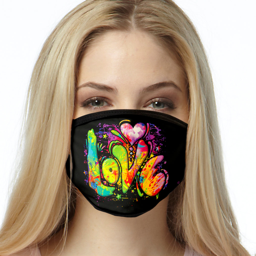 Colorful Love FACE MASK Cover Your Face Masks