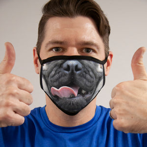 Pug FACE MASK Cover Your Face Masks